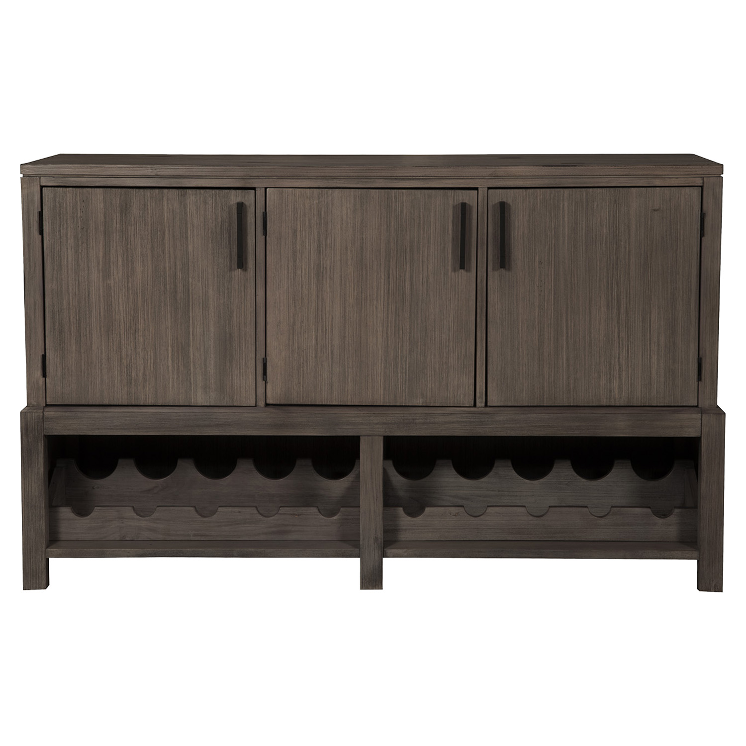 Fiji Sideboard - Wine Bottle Storage, Weathered Gray