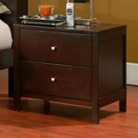 Solana Two Drawer Nightstand in Cappuccino