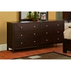 Solana Six Drawer Dresser in Cappuccino