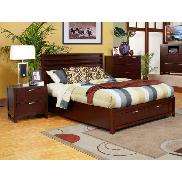 Camarillo Storage Platform Bed with Nightstands