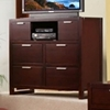 Camarillo Media Chest in Merlot Finish