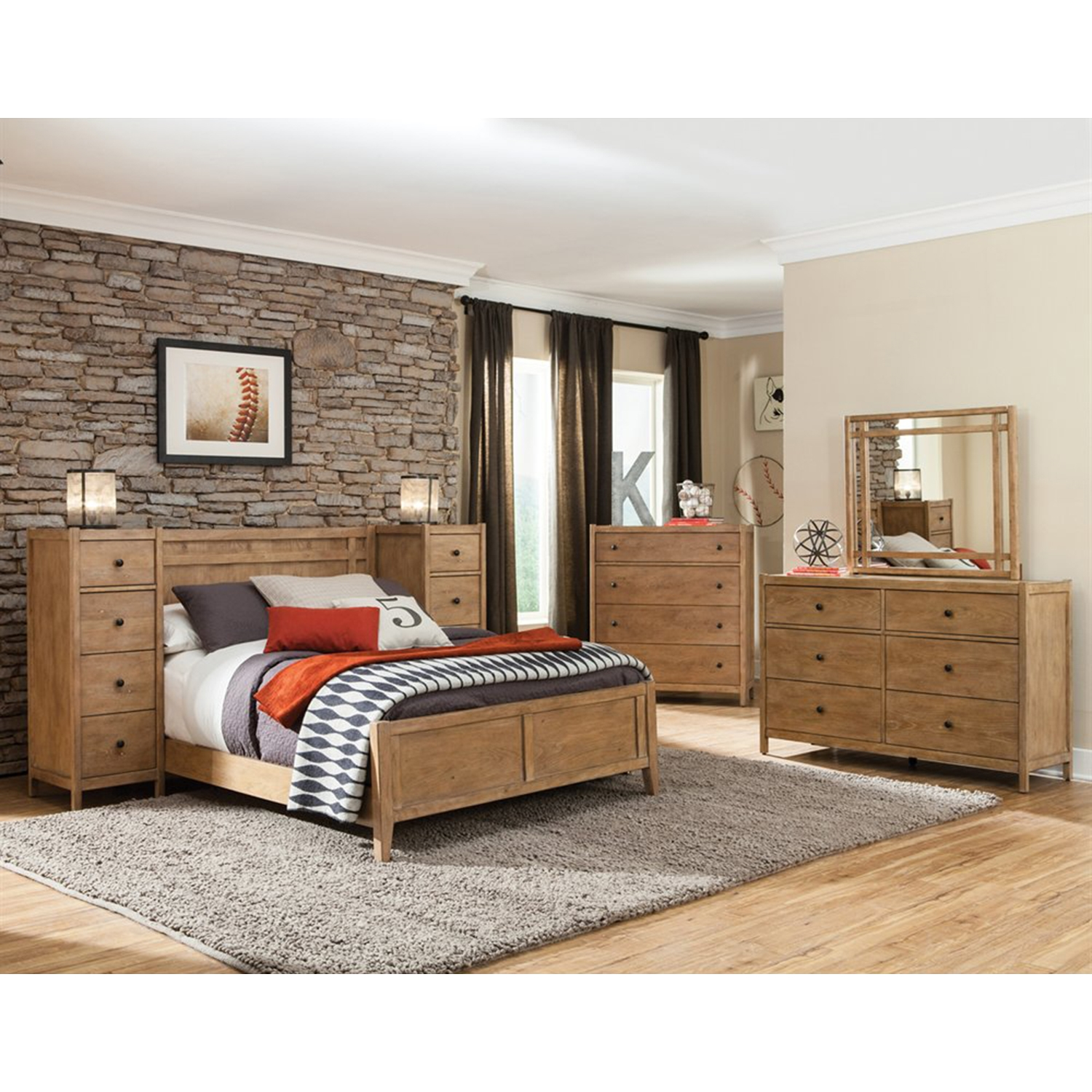 Natural Elements 6-Drawer Dresser - Soft Driftwood with Off-White Glaze - AW-1000-260