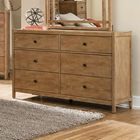 Natural Elements 6-Drawer Dresser - Soft Driftwood with Off-White Glaze