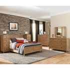 Natural Elements Panel Bed Set - Soft Driftwood with Off-White Glaze