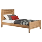 Natural Elements Panel Bed - Soft Driftwood with Off-White Glaze