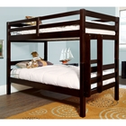 Essentials Twin Wood Bunk Bed - Merlot Finish