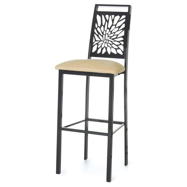 Monarch High Back Stool - Metal Frame