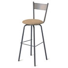 Crystal Swivel Stool with Tapered Back