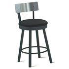 Lauren Stainless Steel Back Swivel Stool