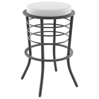 Broadway 30 Bar Stool - Non Swivel, Steel, Backless