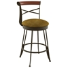 Historian 30'' Bar Stool - Swivel, Memory Return, Wood Accent