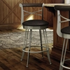 Historian 26'' Counter Stool - Swivel, Memory Return, Wood Accent