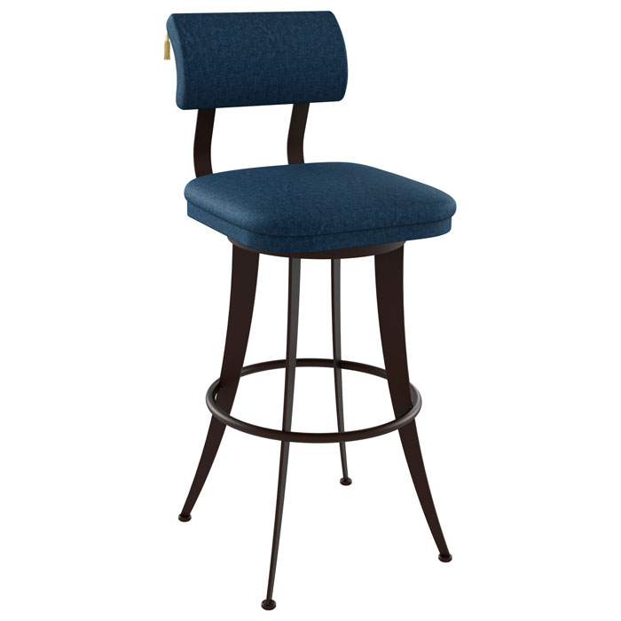 Oscar 30'' Bar Stool - Steel, Swivel, Ring Footrest