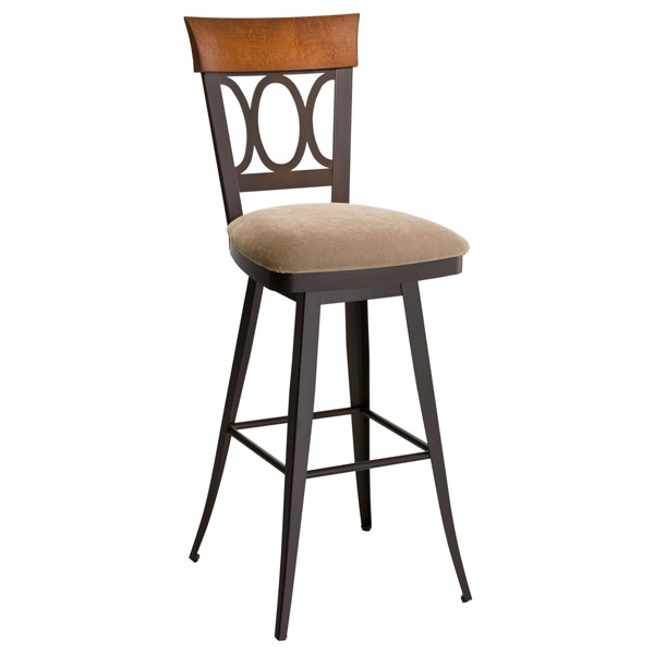 Cindy Swivel Stool with Upholstered Seat