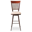 Annabelle Slat Back Swivel Stool