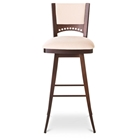 Lily Contemporary Upholstered Swivel Stool