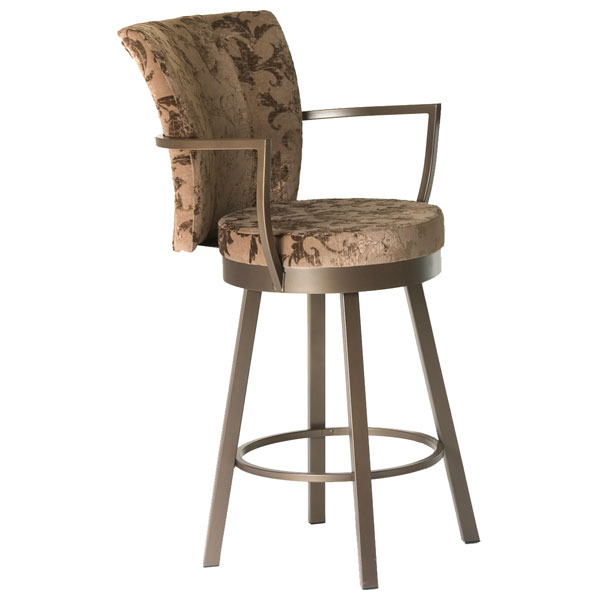 Cardin Modern Swivel Stool with Armrests