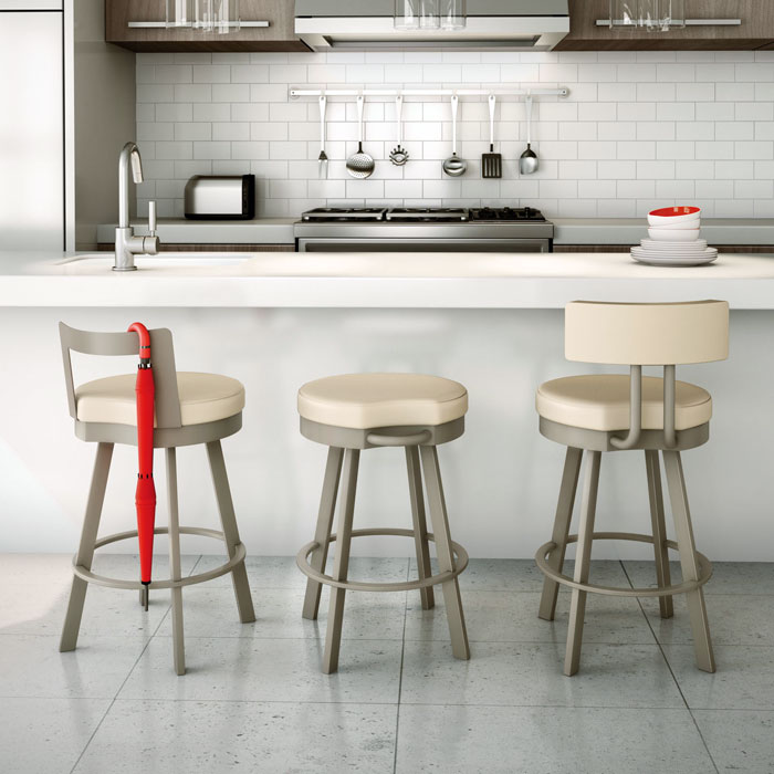 Blake 26'' Counter Stool - Swivel, Low Backrest - AMIS-41446-26