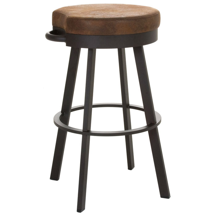 Bryce 34'' Extra Tall Bar Stool - Swivel Seat, Backless