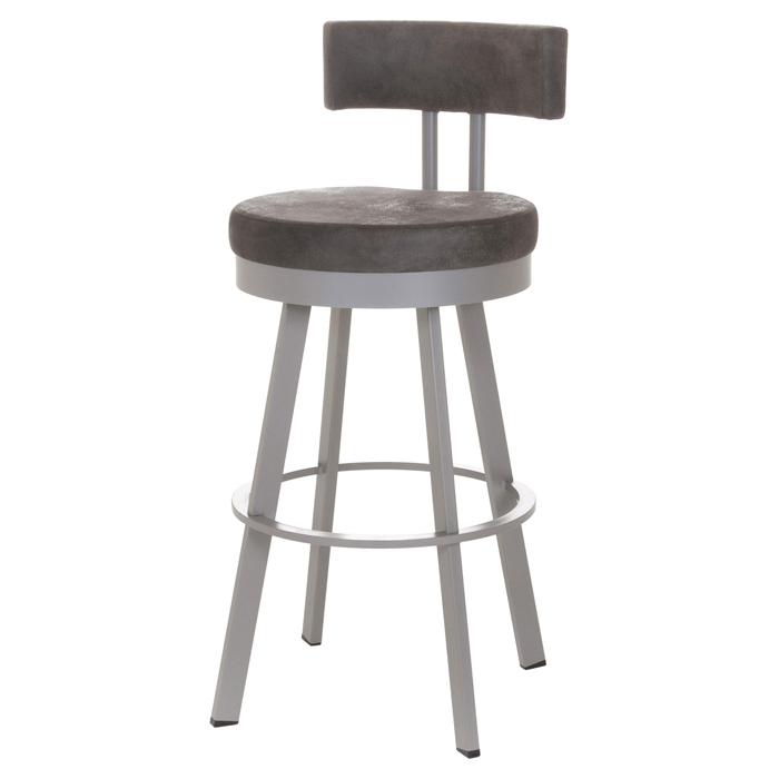 Barry 30'' Bar Stool - Swivel, Cushioned Seat & Backrest