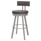 Barry 30%27%27 Bar Stool - Swivel, Cushioned Seat & Backrest