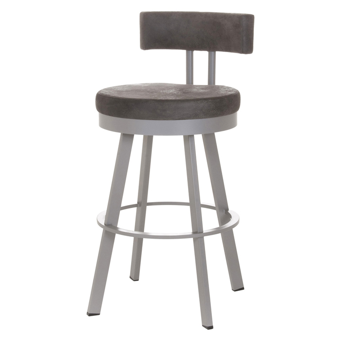 Barry 26'' Counter Stool - Swivel, Cushioned Seat & Backrest - AMIS-41445-26