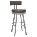 Barry 34 Extra Tall Bar Stool - Swivel, Cushioned Seat & Backrest