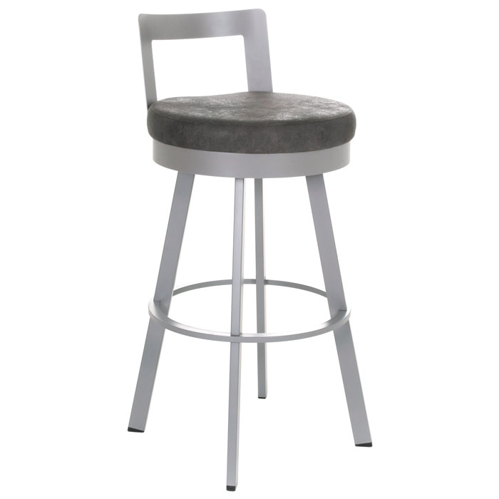 Blake 34'' Extra Tall Bar Stool - Swivel, Low Backrest