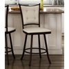 Paula 26'' Counter Stool - Swivel, Button-Tufted