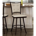 Paula 26%27%27 Counter Stool - Swivel, Button-Tufted