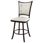 Paula 30 Bar Stool - Swivel, Button-Tufted