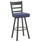 Owen Swivel Stool with Ladder Back