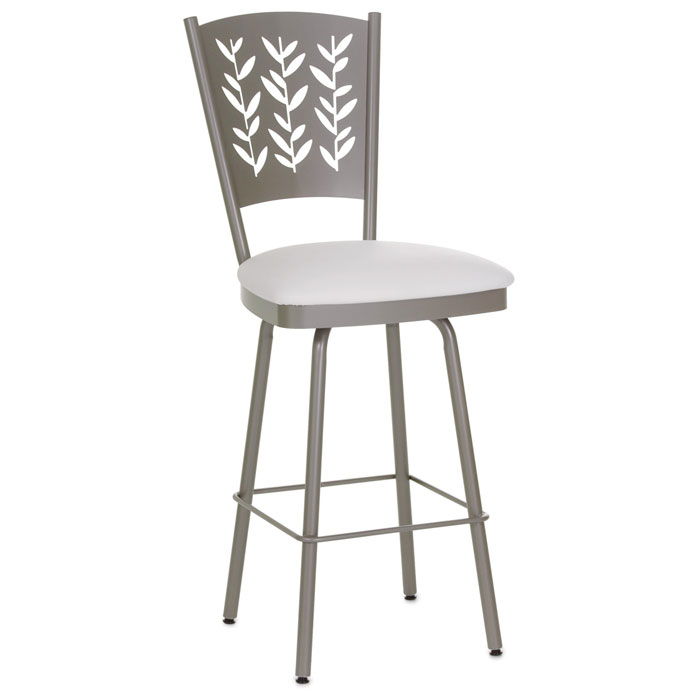 Mimosa 30'' Bar Stool - Swivel, Curved Back, Cut-Out Accents - AMIS-41457-30