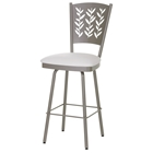 Mimosa 26 Counter Stool - Swivel, Curved Back, Cut-Out Accents