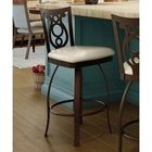 Harp 26 Counter Stool - Swivel, Steel, Ring Footrest