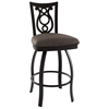 Harp 30'' Bar Stool - Swivel, Steel, Ring Footrest