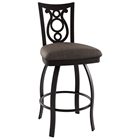 Harp 30 Bar Stool - Swivel, Steel, Ring Footrest