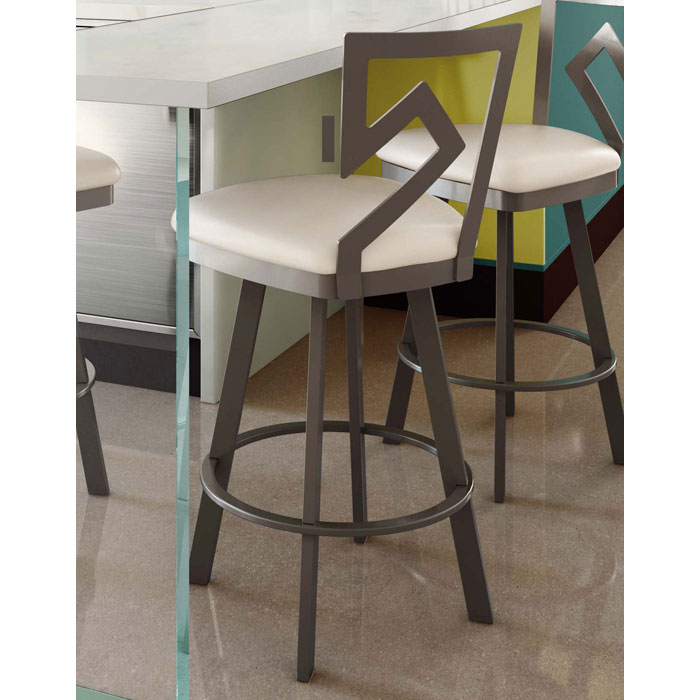 Element 26'' Counter Stool - Swivel, Accent Backrest - AMIS-41459-26