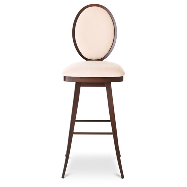 Camelia Upholstered Swivel Stool with Padded Back - AMIS-41492