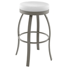 Swan 30%27%27 Bar Stool - Swivel Seat, Backless, Steel