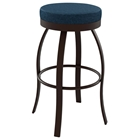 Swan 26 Counter Stool - Swivel Seat, Backless, Steel