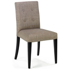 Wall Street Button Tufted Side Chair in Charcoal (Set of 2)