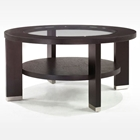 Alta 40-Inch Round Glass Coffee Table