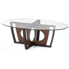 Decca Oval Glass Top Coffee Table