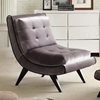 5th Avenue Armless Gray Fabric Lounge Chair