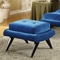 5th Avenue Ottoman in Cerulean Blue Fabric - AL-LC281OTBL