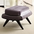 5th Avenue Gray Fabric Ottoman