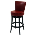 "Boston 30"" Leather Swivel Bar Stool"