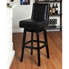 "Wayne 30"" Leather Swivel Bar Stool"