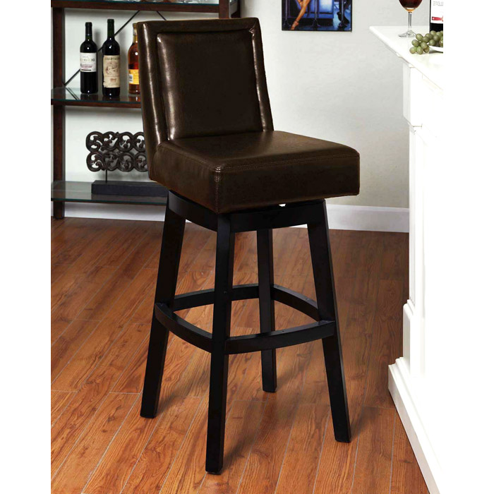 "Wayne 26"" Leather Swivel Counter Stool"